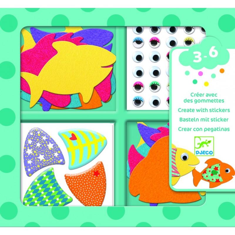 Stickers DJECO - J'aime les poissons
