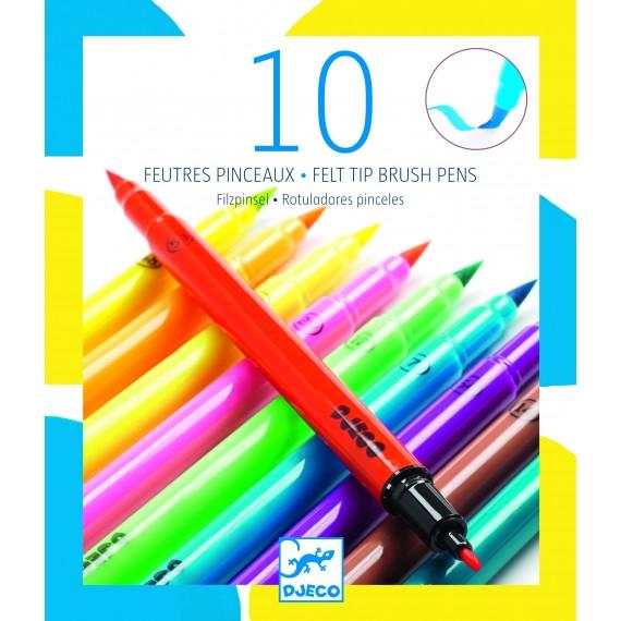 Feutres pinceaux DJECO - Les couleurs - Pop