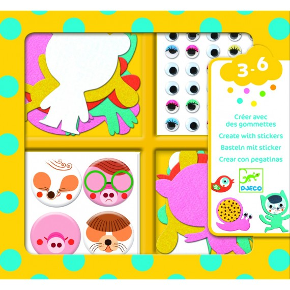 Tissage & Stickers DJECO - J'aime les animaux