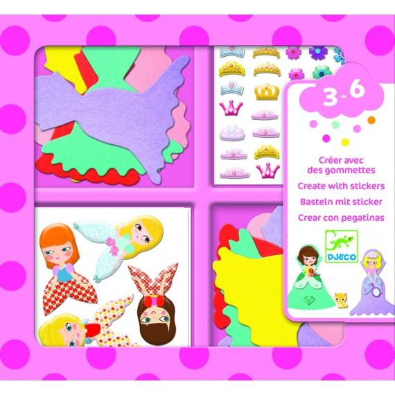 Tissage & Stickers DJECO - J'aime les princesses