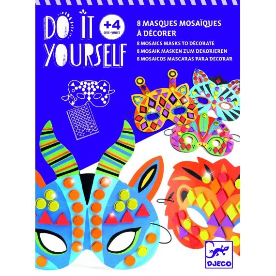 Masque mosaique DJECO Do it your self- Animaux de la Jungle