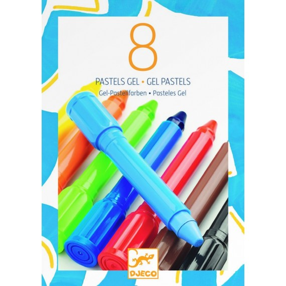 Les couleurs DJECO - 8 pastels gel classique