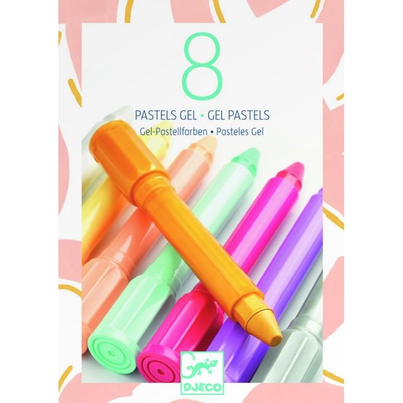 Les couleurs DJECO - 8 pastels gel sweet