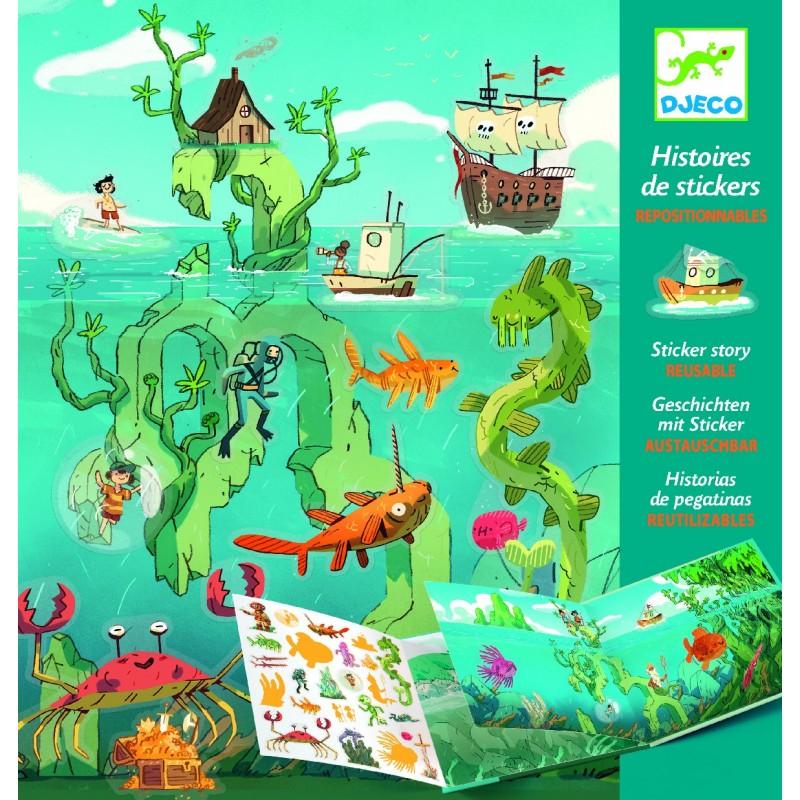 Histoire des stickers Djeco - Les aventures en mer