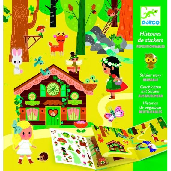 Histoire des stickers Djeco - La forêt magique