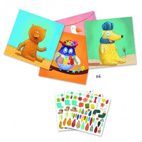 Créer avec des stickers DJECO - Les animaux