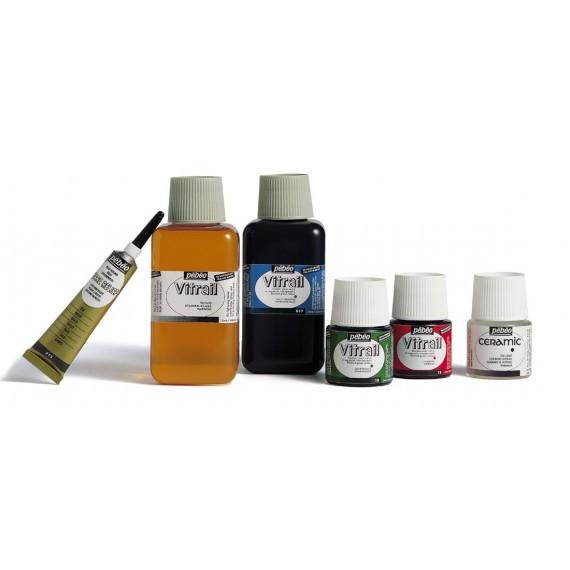 Vitrail à froid PEBEO - Flacon:45 ml - Cramoisi