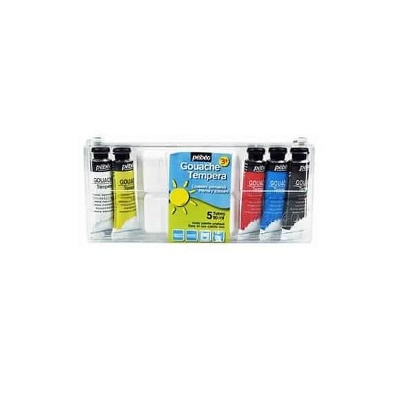 Boite gouache PEBEO - Fine - 5 tubes de 10 ml (Carton) - Primaire
