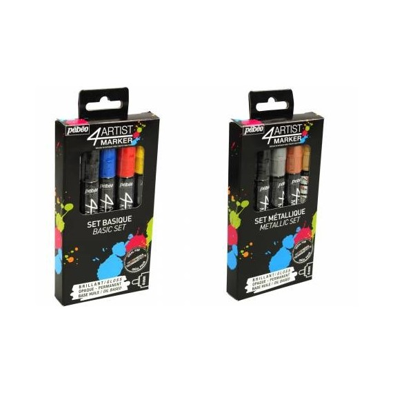 Pochette feutre PEBEO Artist marker - 10 feutres 4 mm- Peinture à l'huile