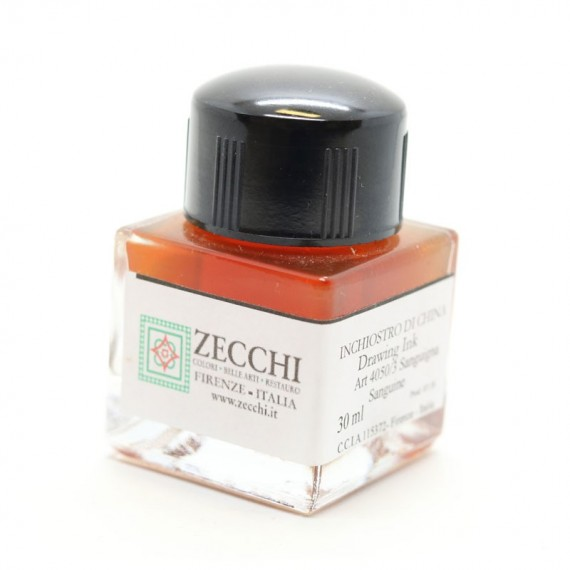 Encre à dessiner ZECCHI Traditionnelle - Flacon: 30 ml - Sanguine véritable