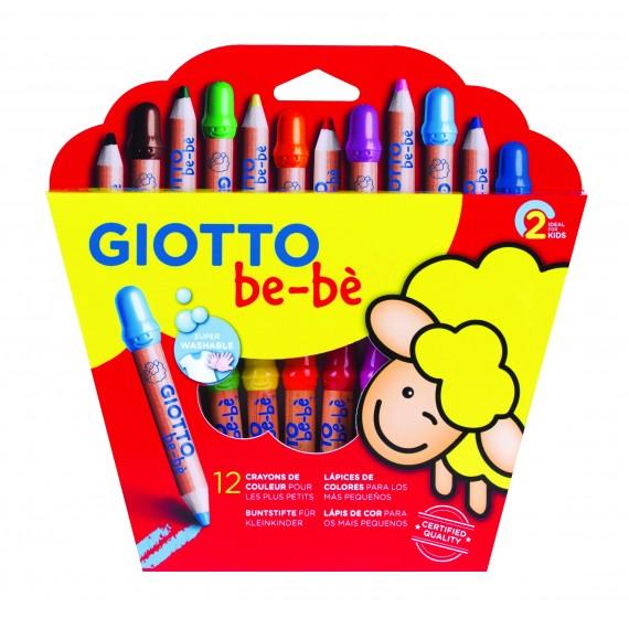Etui crayon GIOTTO BéBé - 12 Crayons Maxi et taille-crayon - 460200