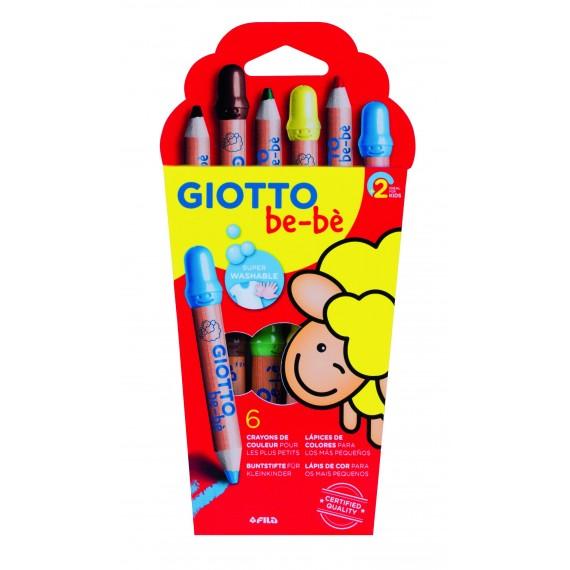 Etui crayon GIOTTO BéBé  - 6 Crayons Maxi à la cire - 466400