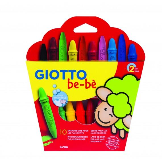 Etui crayon GIOTTO BéBé  - 10 Crayons Maxi à la cire - 466800
