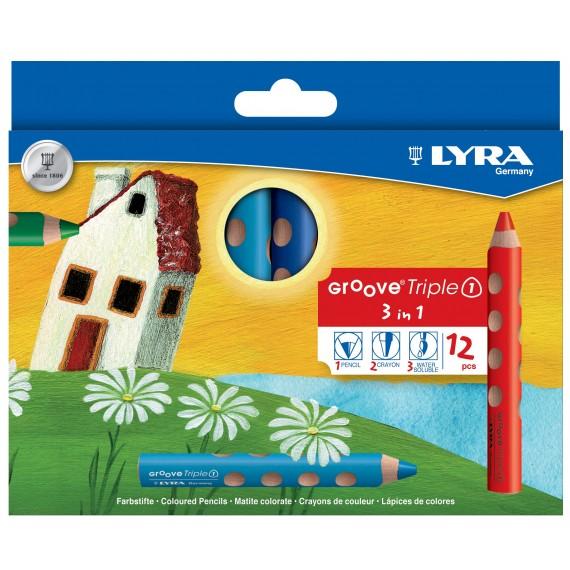 Etui crayon LYRA - 12 Crayons de couleurs Groove