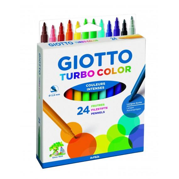 Étui feutre GIOTTO BéBé - 24 feutres Turbo color - 072400