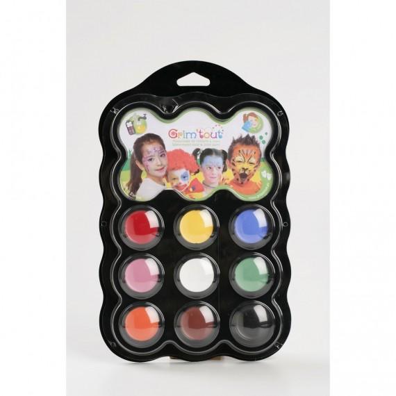 Set maquillage GRIM TOUT - 9 couleurs - Carnaval