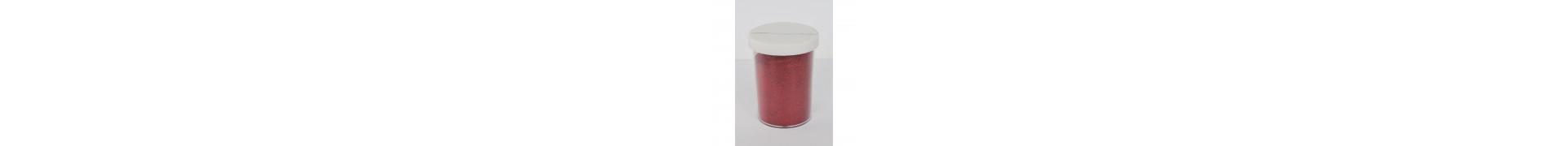 Paillette - Pot: 100 gr - Pot type salière - Rouge