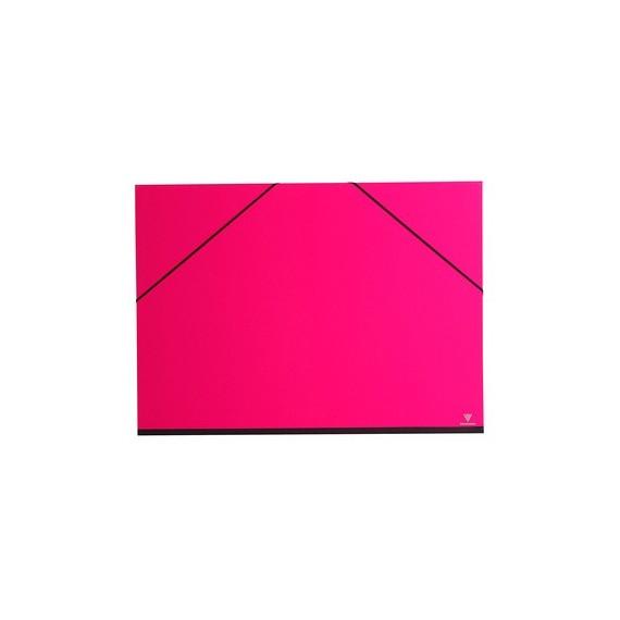 Carton à dessin CLAIREFONTAINE Couleur - F:37 x 52 cm - A élastique - Rose