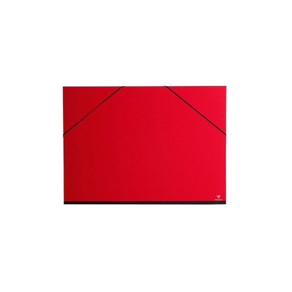 Carton à dessin CLAIREFONTAINE Couleur - F:37 x 52 cm - A élastique - Rouge