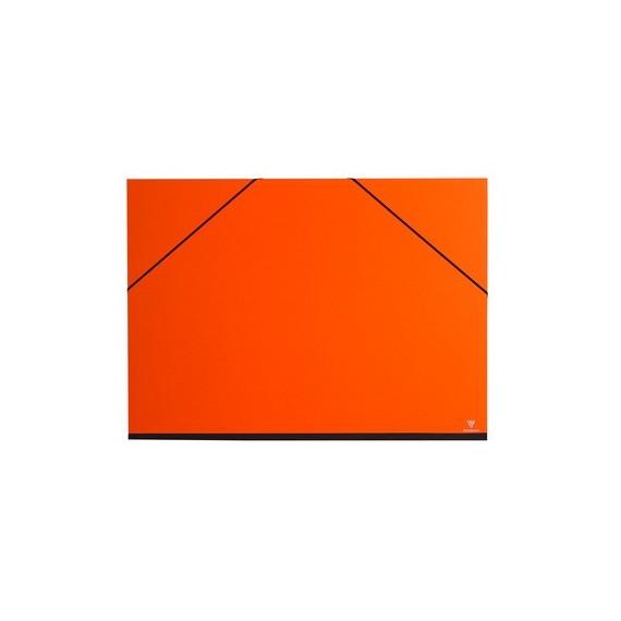 Carton à dessin CLAIREFONTAINE Couleur - F:37 x 52 cm - A élastique - Orange