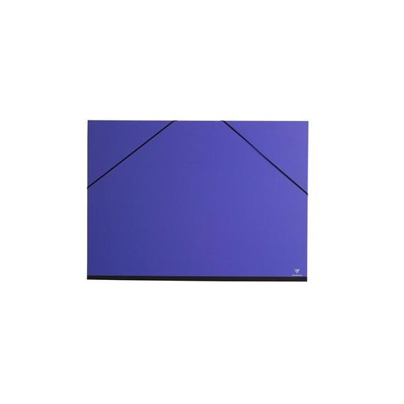 Carton à dessin CLAIREFONTAINE Couleur - F:37 x 52 cm - A élastique - Noir