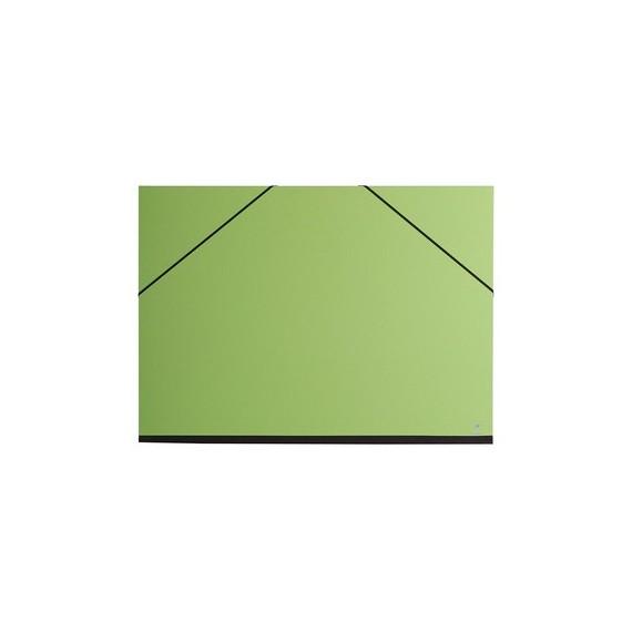 Carton à dessin CLAIREFONTAINE Couleur - F:37 x 52 cm - A élastique - Vert