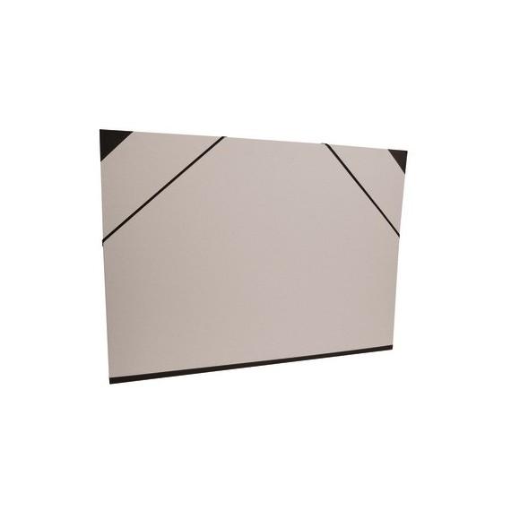 Carton à dessin CLAIREFONTAINE Brut - F:52 x 72 cm - A élastique - Gris