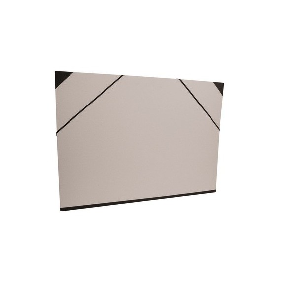 Carton à dessin CLAIREFONTAINE Brut- F:37 x 52 cm - A élastique - Gris