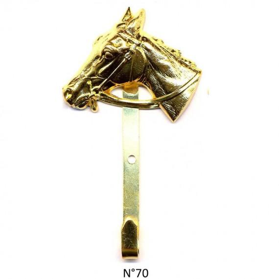 CROCHET MAIRE DORE OR FIN TETE DE CHEVAL