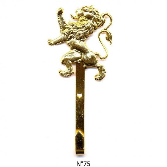 CROCHET MAIRE DORE OR FIN LION DEBOUT
