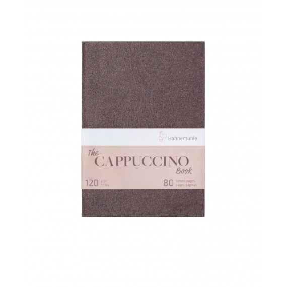 Carnet dessin HAHNEMUHLE The cappuccino book - 120g  - 40 feuilles - F:14,8 x 21 cm (A5)- Portrait