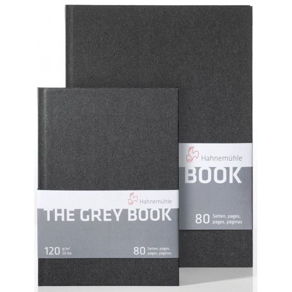 "CARNET "" THE GREY BOOK "" PAPIER GRIS 120 GR - FORMAT: A4 PORTRAIT 40 F- 80 PAGES"