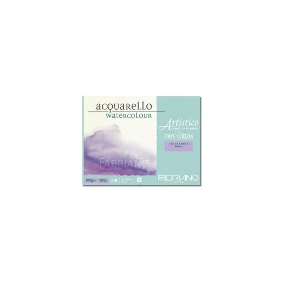 Bloc aquarelle FABRIANO Artistico - 200 gr - 25 feuilles - Format:  23 x 30.5 cm - Grain torchon