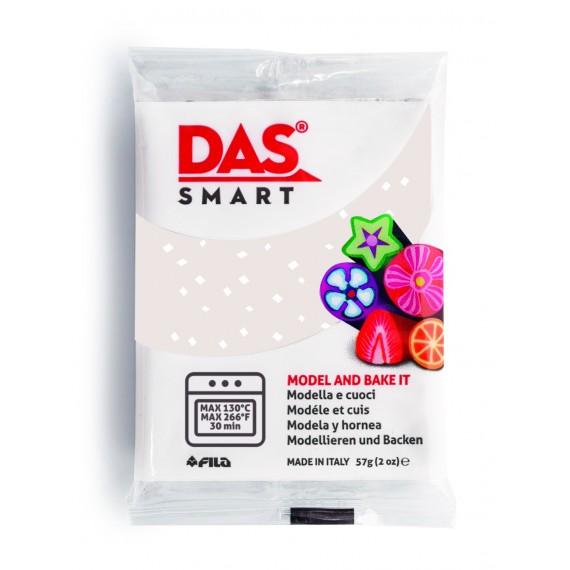 Pâte à modeler DAS SMART - Sachet de 57 gr - Blanc pailleté