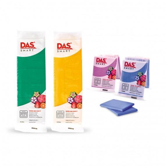Pâte à modeler DAS SMART - Sachet de 57 gr - Rouge pailleté