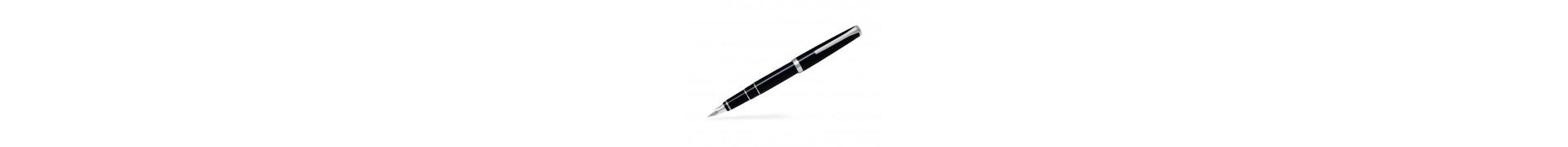 Stylo-plume luxe PILOT Falcon - Haute écriture - Corps noir - Plume moyenne (Or rhodié14kt)
