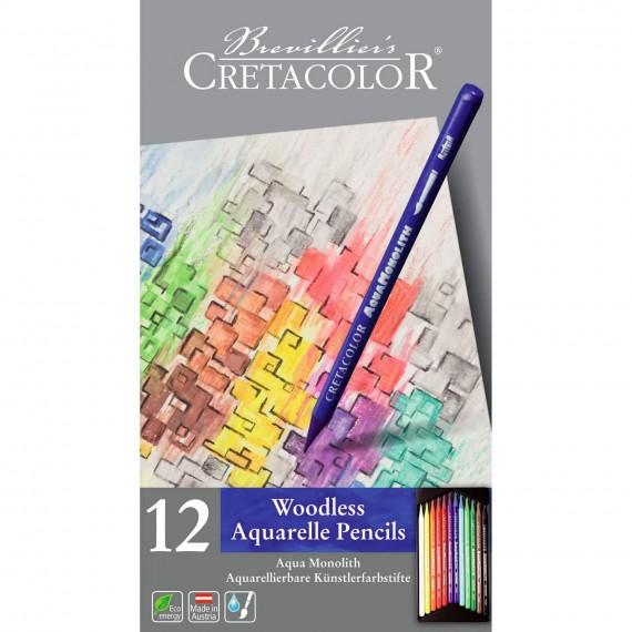 Boite crayon aquarelle AQUA MONOLITH - 12 crayons - 12 250 12 (Métal)