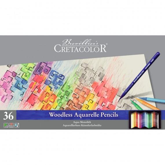 Boite crayon aquarelle AQUA MONOLITH - 36 crayons - 36 250 36 (Métal)