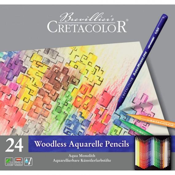 Boite crayon aquarelle AQUA MONOLITH - 24 crayons - 24 250 24 (Métal)