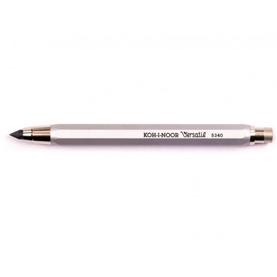 Porte-mine KOH-I-NOOR - Corp métal agent + pince métal + Taille mine - D. 5.6 mm - K5340-1