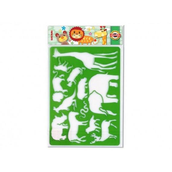 Grille à dessiner CORECTOR - Longueur: 26.5 cm - Safari