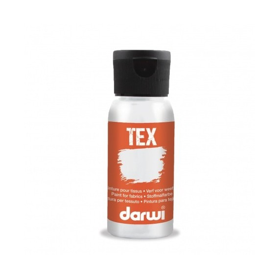 Peinture pour tissu DARWI TEX Classique - Flacon: 50 ml - Nacré