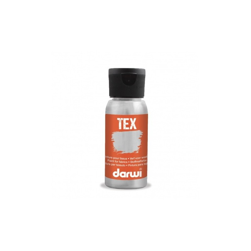 Peinture pour tissu DARWI TEX Classique - Flacon: 50 ml - Gris