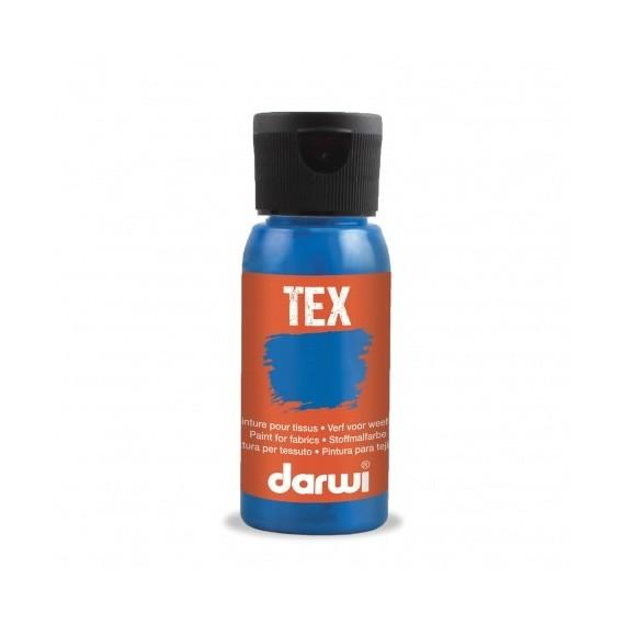 Peinture pour tissu DARWI TEX Classique - Flacon: 50 ml - Bleu ciel