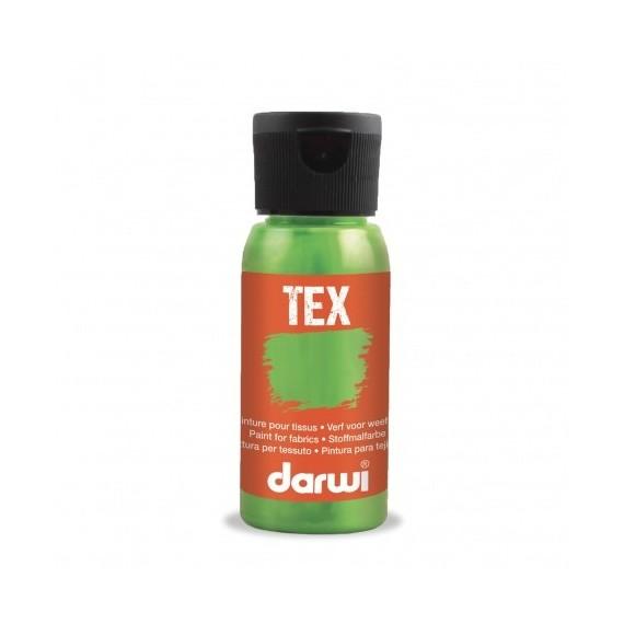 Peinture pour tissu DARWI TEX Classique - Flacon: 50 ml - Vert fluo