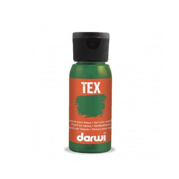 Peinture pour tissu DARWI TEX Classique - Flacon: 50 ml - Vert mousse
