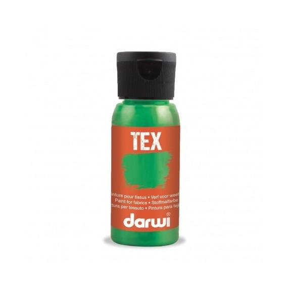 Peinture pour tissu DARWI TEX Classique - Flacon: 50 ml - Vert Pin