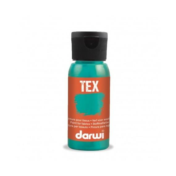 Peinture pour tissu DARWI TEX Classique - Flacon: 50 ml - Nacre turquoise
