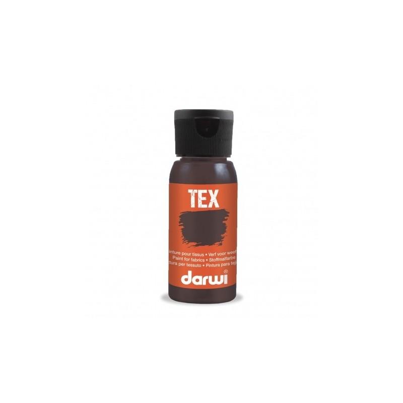Peinture pour tissu DARWI TEX Classique - Flacon: 50 ml - Brun foncé