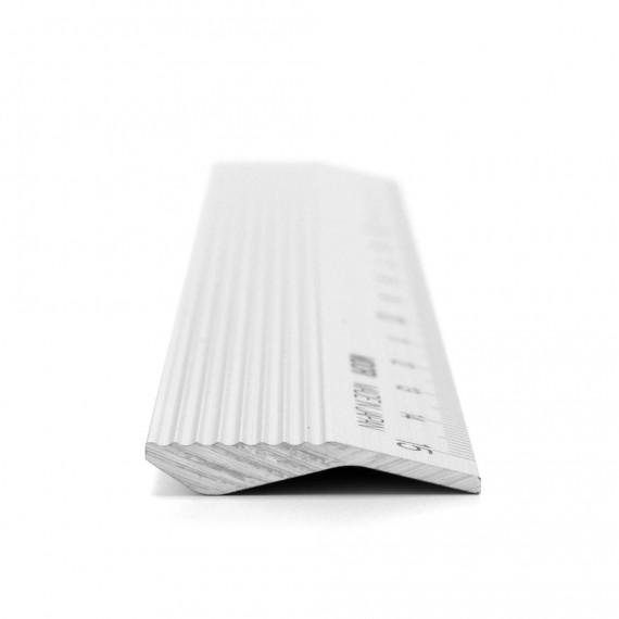 Règle MIDORI aluminium - 30 cm - Argent